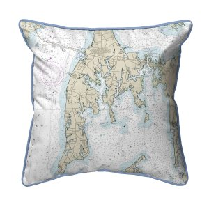 Kent Island Md Nautical Map Large Corded Indoor Outdoor Pillow Hj12270oki 39 00 Betsy Drake Home Decor Pillows Wall Art Kitchenwares Tiles Coasters And More Featuring Artwork By Betsy Drake And R B