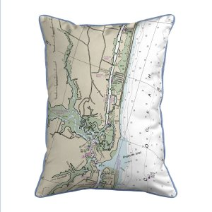 Holden Beach Nc Nautical Map Large Corded Indoor Outdoor Pillow Hj11534hb 39 00 Betsy Drake Home Decor Pillows Wall Art Kitchenwares Tiles Coasters And More Featuring Artwork By Betsy Drake And R B